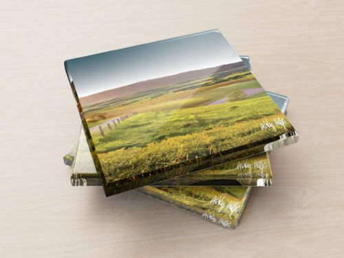 Rolling Hills Ultra Marine - Glass Coasters